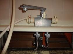 KVK製シャワー水栓デッキタイプ