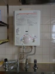 ノーリツ製小型湯沸器YR546