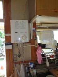 リンナイ製ガス小型湯沸器