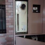 千葉市稲毛区のマンションでガス給湯器の取替。