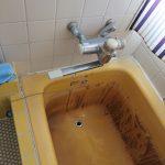 市原市で浴槽用水栓の取替。