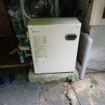 大多喜町で石油給湯機の取替。