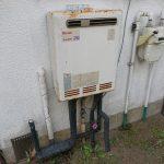 睦沢町でガス給湯器の取替。