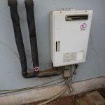 八街市でガス給湯専用機の取替。