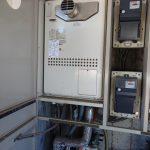 柏市でマンション用エコジョーズタイプの熱源機へ取替。