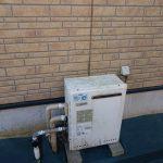 茂原市で据置型ガス給湯器から壁掛け型エコジョーズへ取替。