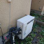 白子町でリンナイ製ガス給湯器隣接設置型エコジョーズへ取替。