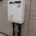 一宮町でリンナイ製ガス給湯器の取替。