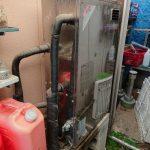 木更津市で石油給湯機の取替。
