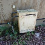 睦沢町で石油給湯機の取替。