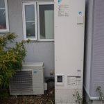 大網白里市で電気温水器エコキュートからガス給湯器エコジョーズへ取替。
