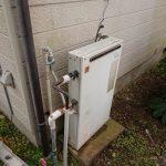 茂原市で浴室隣接型給湯器から給湯専用エコジョーズへ取替。