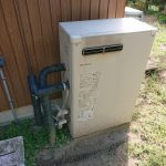 茂原市で石油給湯機の取替。