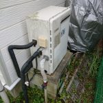 茂原市で浴室隣接型給湯器エコジョーズGRQ-C2062SAXへ取替。