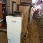 印西市で石油給湯器の取替。