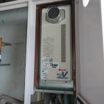 佐倉市でPS扉内設置型ガス給湯器の取替。