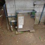 長柄町で石油給湯機の取替